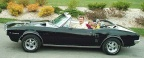 1967 Black Pontiac Firebird 326 Convertible