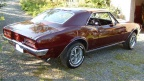 1967 67 Metallic Burgundy Pontiac Firebird 400 H O Coupe