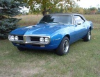 1967 Blue Pontiac Firebird 400 Coupe