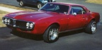 1967 Electrostatic Red Pontiac Firebird Modified Coupe