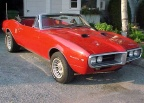 1967 Red Pontiac Firebird 400 Convertible 2