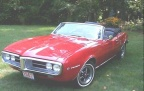 1967 Red Pontiac Firebird 326 Convertible 3