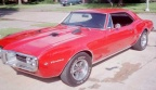 1967 Regimental Red Pontiac Firebird 400 Coupe