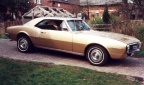 1967 signet gold Pontiac Firebird 326 Coupe