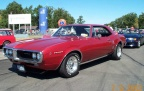 1967 Strawberry Red Pontiac Firebird OHC 6 Coupe