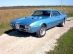 1967 Tyrol Blue Pontiac Firebird Modified Coupe