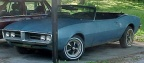 1968 Alpine Blue Pontiac Firebird OHC 6 Sprint Convertible