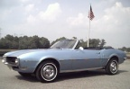 1968 Alpine Blue Pontiac Firebird 350 Convertible