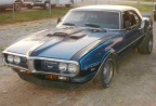 1968 Black Blue Striping originally verdoro green Pontiac Firebird 400 Coupe