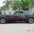 1968 Black Pontiac Firebird 350 H O Coupe