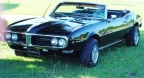 1968 Black Pontiac Firebird 400 Convertible