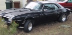 1968 Black Pontiac Firebird Modified Coupe
