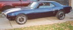 1968 Blue Pontiac Firebird 350 H O Coupe