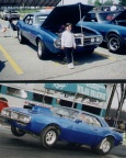 1968 Blue Pontiac Firebird Modified Coupe