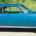 1968 Blue Pontiac Firebird 400 Coupe